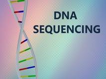 DNA que ordena concepto stock de ilustración