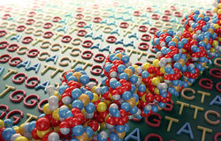 DNA que ordena concepto Foto de archivo