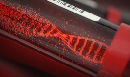 DNA-Reagenzglas Lizenzfreies Stockfoto