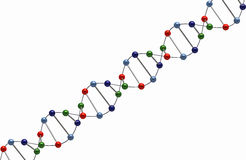 DNA render Stock Photography
