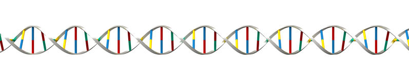 DNA render Royalty Free Stock Photos