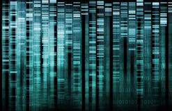 DNA Research. Of Science Genetic Data Background Stock Photo