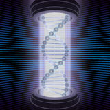 DNA Research. The science of the future, studies the DNA with a high technology machine Royalty Free Stock Photography