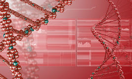 DNA research background Stock Images
