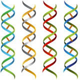 DNA Ribbon Set Stock Images