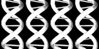 DNA / RNA x 4. 3D DNA / RNA Model stock illustration