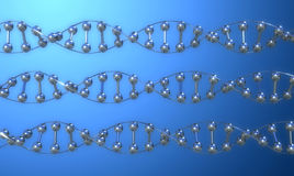 DNA IN ROW royalty free illustration