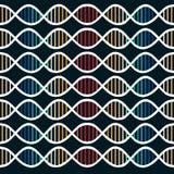 DNA Ruszać się po spirali tło Obrazy Stock