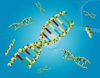 DNA- Samenvatting Royalty-vrije Stock Afbeelding
