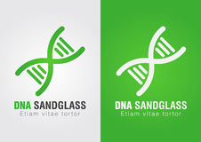 DNA Sandglass combination sign symbol. Creative Design. Business success Stock Images