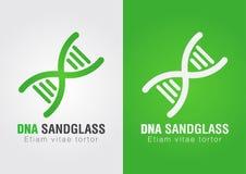 DNA Sandglass kombinaci znaka symbol kreatywne projektu Obrazy Stock