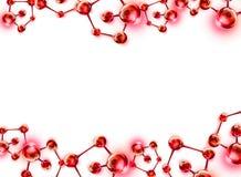DNA-Schroef Moleculaire Achtergrond Royalty-vrije Stock Afbeeldingen
