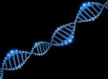 DNA-Schroef Moleculaire Achtergrond Royalty-vrije Illustratie