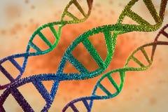DNA-schroef of DNA-structuur Royalty-vrije Stock Fotografie