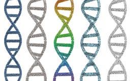 DNA-schroef of DNA-structuur Royalty-vrije Stock Afbeelding