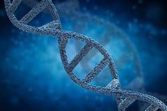 DNA-schroef of DNA-structuur Stock Illustratie