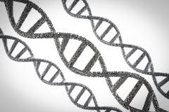 DNA-schroef of DNA-structuur Royalty-vrije Stock Afbeeldingen