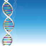 DNA Science Background. With copy space vector illustration
