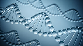 DNA science Background. DNA helix background -  beautiful 3D render Royalty Free Stock Images