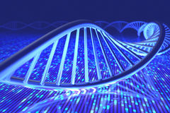 DNA Senger Sequence. 3D illustration, concept of DNA and Senger sequence Stock Photo