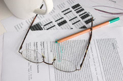 DNA sequence analysis stock images