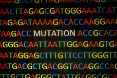 DNA sequence mutation Royalty Free Stock Image