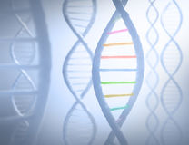 DNA Sequence. S in parallel with a light in the background Stock Images