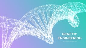 Free DNA Sequence. Wireframe DNA Molecules Structure Mesh. DNA Code Editable Template. Science And Technology Concept. Vector Illustrat Royalty Free Stock Photo - 130860865
