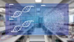 DNA sequencing blueprint RNA sequencing DNA computational models Royalty Free Stock Images