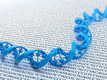 DNA sequencing concept illustration Royalty Free Stock Photos