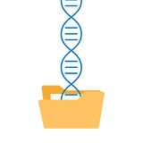 Dna sequencing genome information saving stock illustration