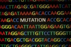 DNA-Sequenz-Veränderung lizenzfreies stockbild
