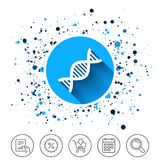 DNA sign icon. Deoxyribonucleic acid symbol. Stock Photography