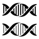 DNA simple black symbols Royalty Free Stock Photo