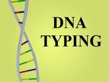 DNA som SKRIVER begrepp Arkivfoto