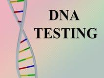 DNA som TESTAR begrepp Fotografering för Bildbyråer