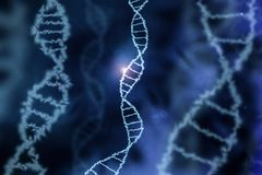 Dna specific genom background blue. A dna specific genom background blue Stock Photography