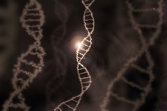 Dna specific genom background brown. A dna specific genom background brown Stock Photography
