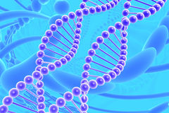 Dna spirals Royalty Free Stock Images