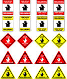 DNA spray protection signs - vector. A collection of DNA protection signs. The newest method of protecting your property and already very successful! The Royalty Free Stock Photography