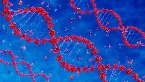 DNA-Stränge, die auf abstrakten Hintergrund sich drehen lizenzfreie abbildung