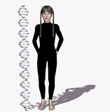 DNA Strand Royalty Free Stock Photography