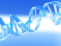 DNA Strand. Transparent blue color DNA Strand Royalty Free Stock Photos
