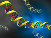 Dna strand. S on abstract background. Digital illustration Royalty Free Stock Images
