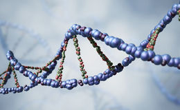 DNA strand. Abstract DNA strand. 3D render Stock Image