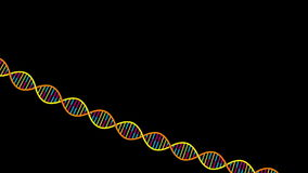 DNA Strand. Animated stylized illustration of a DNA strand. Alpha matte included stock video footage