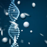 DNA strand background Stock Photo