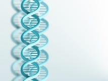 DNA strand. Blue DNA strand on a light background Stock Photo