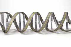 DNA strand of Building. 3d image of DNA strand of building against white background Stock Photo