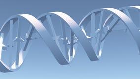 DNA Strand. 3D rendering. DNA spiral chain Stock Illustration